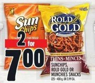 Sunchips - Rold Gold or Munchies Snacks