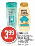 L'oréal Hair Expertise (385ml) - Whole Blends (370ml) Shampoo or Conditioner