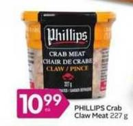 Phillips Crab Claw Meat