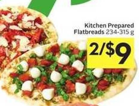 Kitchen Prepared Flatbreads 234 - 315 g