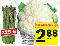 Cauliflower Or Asparagus