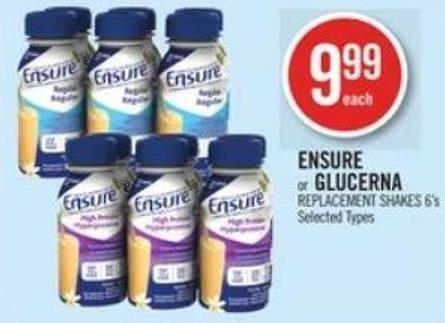Ensure or Glucerna Replacement Shakes 6's