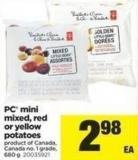 PC Mini Mixed - Red Or Yellow Potatoes - 680 g