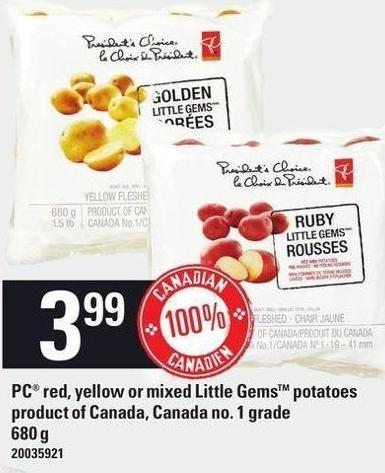 PC Red - Yellow Or Mixed Little Gems Potatoes - 680 G