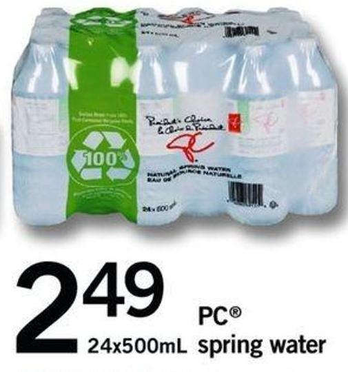 PC Spring Water - 24x500ml