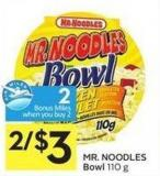 Mr. Noodles Bowl 110 g - 2 Air Miles Bonus Miles