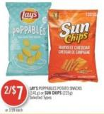Lay's Poppables Potato Snacks (141g) or Sun Chips (225g)