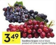 Seedless Grapes Red or Black