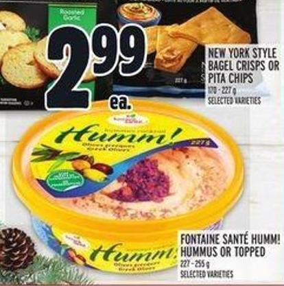 Fontaine Santé Humm! Hummus or Topped