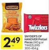 Snyder's Of Hanover Pretzel Pieces 240 g or Twizzlers 300-454 g