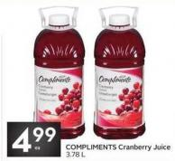 Compliments Cranberry Juice