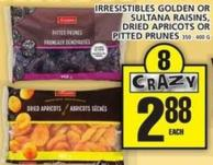 Irresistibles Golden Or Sultana Raisins - Dried Apricots Or Pitted Prunes