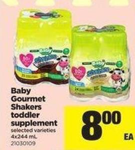 Baby Gourmet Shakers Toddler Supplement - 4x244 Ml