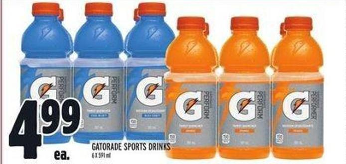Gatorade Sports Drinks 6 X 591 mL
