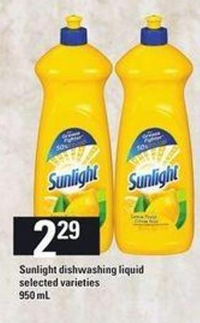 Sunlight Dishwashing Liquid - 950 mL