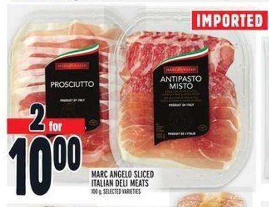 Marc Angelo Sliced Italian Deli Meats