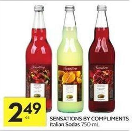 Sensations By Compliments Italian Sodas