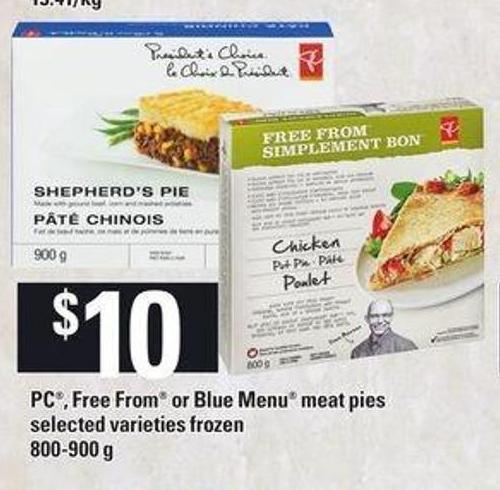 PC - Free From Or Blue Menu Meat Pies - 800-900 G