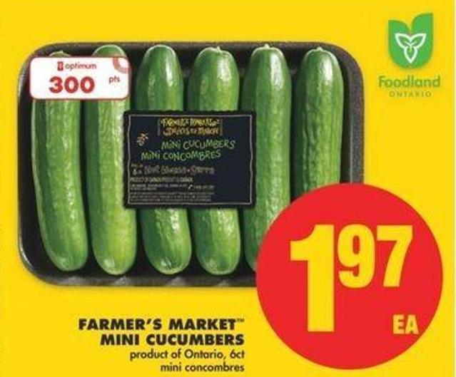 Farmer's Market Mini Cucumbers - 6ct