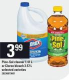 Pine-sol Cleaner 1.41 L Or Clorox Bleach 3.57 L