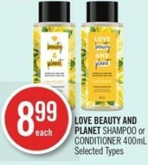 Love Beauty And Planet Shampoo or Conditioner