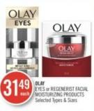 Olay Eyes or Regenerist Facial Moisturizing Products