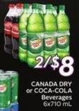 Canada Dry or Coca-cola Beverages 6x710 mL - 20 Air Miles