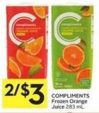 Compliments Frozen Orange Juice 283 mL