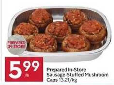 Prepared In-store Sausage-stuffed Mushroom Caps