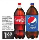 Coca-cola or Pepsi Soft Drinks