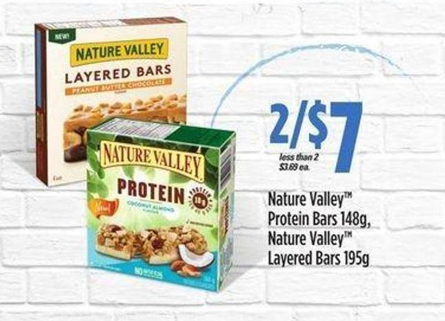 Nature Valley Protein Bars 148g - Nature Valley Layered Bars 195g