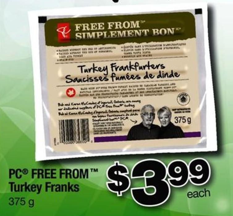 PC Free From Turkey Franks