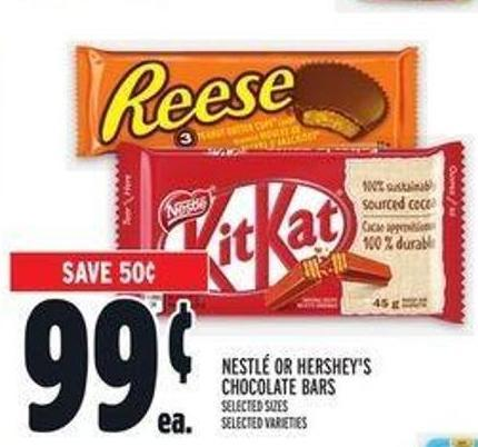 Nestlé Or Hershey's Chocolate Bars