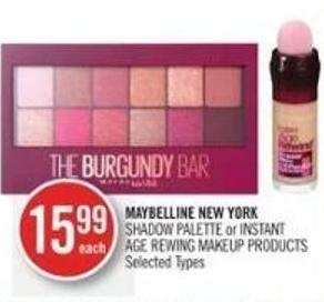Maybelline New York  Shadow Palette or Instant Age Rewing Makeup Products