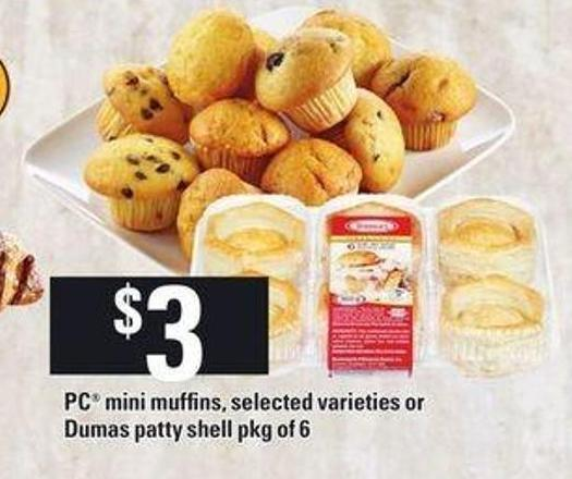 PC Mini Muffins - Or Dumas Patty Shell
