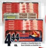 Schneiders Or Greenfield Bacon