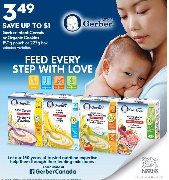 Gerber Infant Cereals or Organic Cookies 150g Pouch or 227g Box