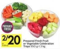 Prepared Fresh Fruit or Vegetable Celebration Trays 950 G-1.3 Kg