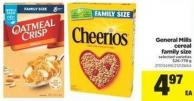 General Mills Cereal Family Size - 526-778 g
