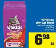 Whiskas Dry Cat Food - 1.4-2 Kg
