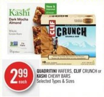 Quadritini Wafers - Clif Crunch or Kashi Chewy Bars