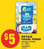 Royale Facial Tissue - 6 X 100's