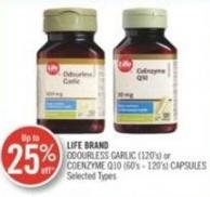 Life Brand Garlic (120's) Or Coenzyme Q10 (60's-120's) Capsules