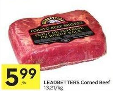 Leadbetters Corned Beef 13.21/kg