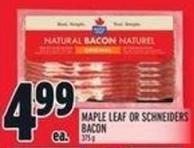 Maple Leaf Or Schneiders Bacon 375 g