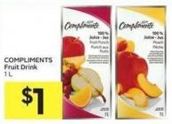 Compliments Fruit Drink 1 L