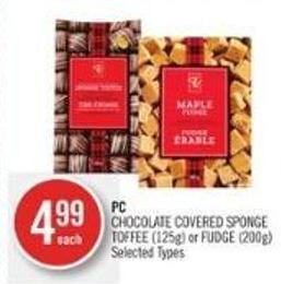 PC Chocolate Covered Sponge Toffee (125g) or Fudge (200g)