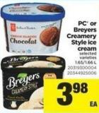 PC Or Breyers Creamery Style Ice Cream - 1.65/1.66 L