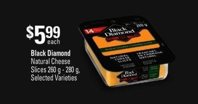 Black Diamond Natural Cheese Slices - 260 G - 280 G