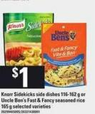 Knorr Sidekicks Side Dishes - 116-162 g Or Uncle Ben's Fast & Fancy Seasoned Rice - 165 g